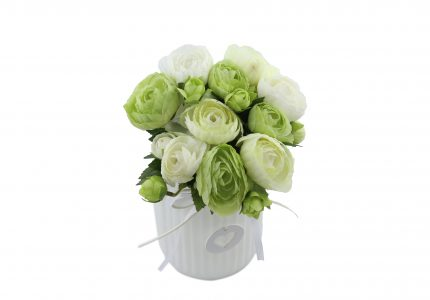 Bouquet de renoncule cream green