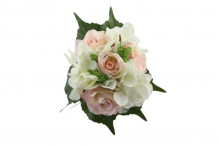 Bouquet de rose / hortensia pink cream