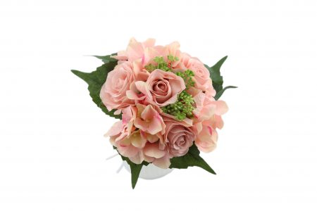 Bouquet de rose / hortensia peach