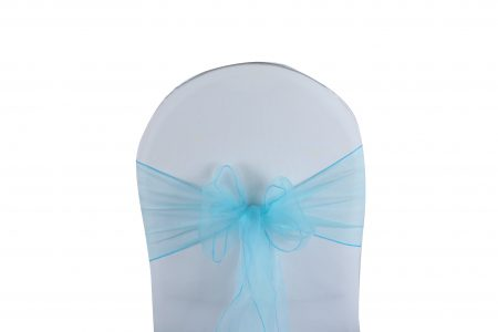 Noeud de Chaise Organza Turquoise