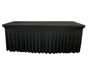 Nappe lycra rectangle juponnage noire