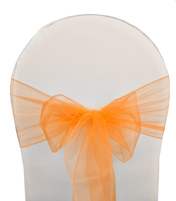noeud de chaise organza orange