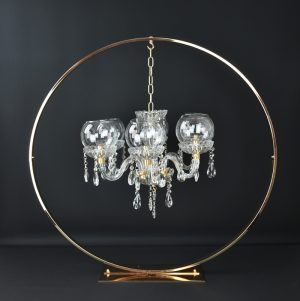 centre de table cercle lustre